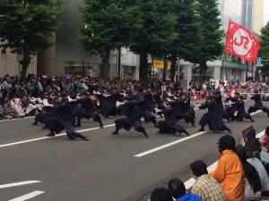 JR九州櫻燕隊のYOSAKOIソーラン祭り写真③